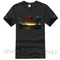 Twilight In The Wilderness T Shirt By Frederic Edwin Church Men S T Shirt