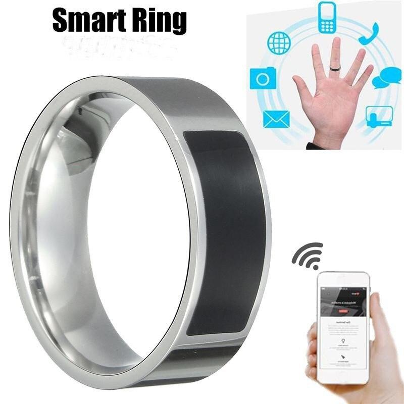 Смарт-кольцо для мужчин и женщин, модные цифровые водонепроницаемые смарт-аксессуары черного цвета с умным управлением пальцами, с NFC