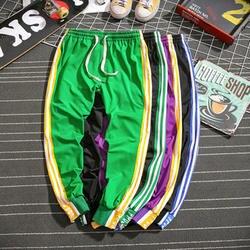 Брюки повседневные брюки свободные 5XL черный зеленый фиолетовый тренировочные штаны с резинкой в талии большой размер полосатые брюки по