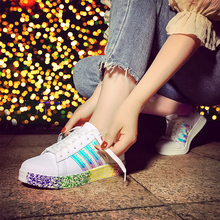 ZENVBNV High quality brand superstar fashion women casual shoes footwear lovers Colorful sneakers shoes Graffiti shoe 35~43size