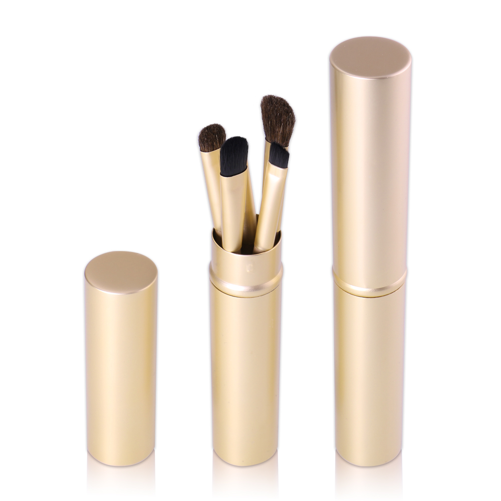 O TWO O Brand Makeup Brushes Set Powder Blush Foundation Eyeshadow Eyeliner Lip Cosmetic Brush Kit Beauty Tools With Gold Tube in Eye Shadow Applicator from Beauty Health