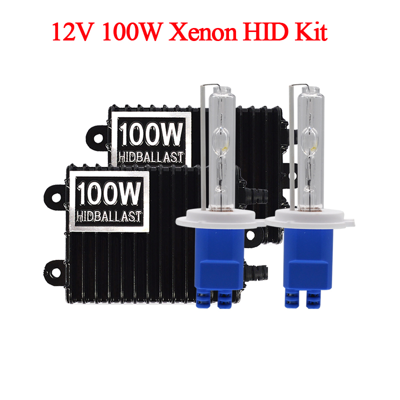 Car Headlight 100W HID Xenon Kit H7 H11 H1 H3 HB3 HB4 D2H Xenon Bulb High Power AC 12V 100W HID Ballast Kit 4300K 6000K 8000K (7)