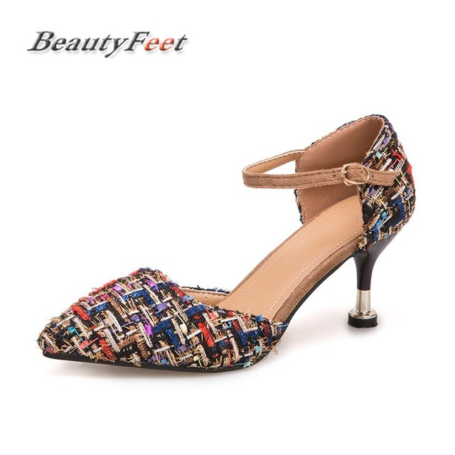 BeautyFeet 2018 Fashion High Heels Newest Women Pumps Summer Women Shoes  Thin Heel Pumps Comfortable Shoes 5fc91f94f98e