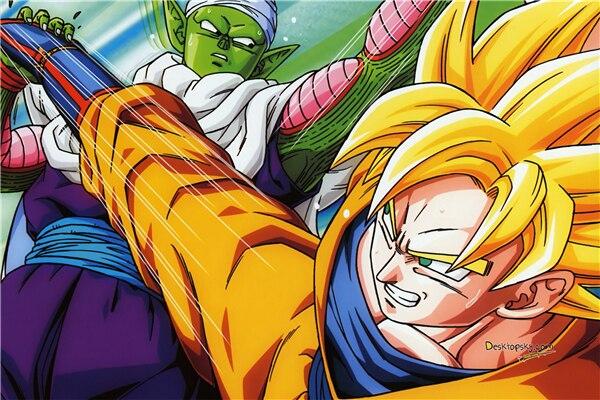 Custom Canvas Dragon Ball Z Poster Dragon Ball Wall Stickers Goku
