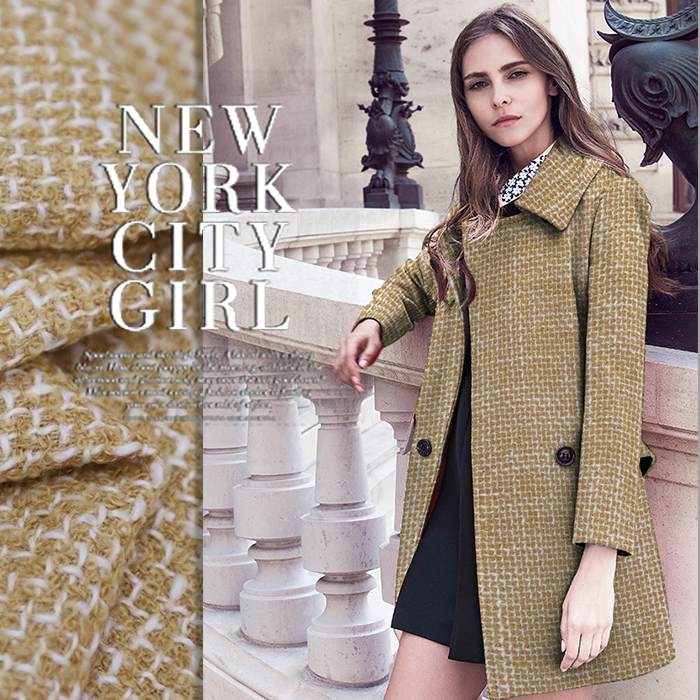 Free shipping! Coarse flower wool knitting wool coat jacket wool fabric skirts autumn and winter coat wool cloth