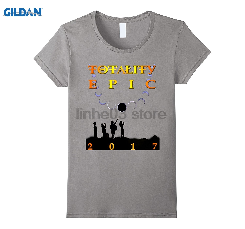 GILDAN Totality EPIC 2017 Eclipse Solar Tee glasses Womens T-shirt sunglasses women T-shirt