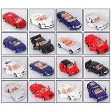 16 pçs/lote 1: 87 Carro Modelo de Carro de Brinquedo Modelo de Venda Quente do Famoso Do Mundo, as portas Podem Ser Abertas Assembly Building & Construção Brinquedos