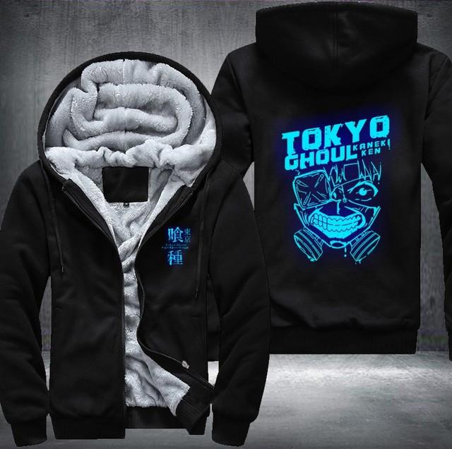 TOKYO GHOUL THEMED ZIP-UP COAT HOODIE JACKET (20 VARIAN)