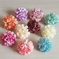 15pcs 10Colors 4.5cm Artificial Flower Heads Silk Carnation Daisy For DIY Wedding Decoration Flower Bridal Bouquet