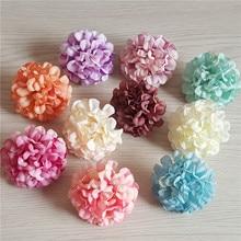 20pcs 10Colors 4.5cm Artificial Flower Heads Silk Carnation Daisy For DIY Wedding Decoration Bridal Bouquet