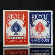 2pcs / set Biciclete de poker Biciclete de moda si rosie Magic Carti regulate de joc Rider inapoi Deck standard Magic Trick 808 Puncte sigilate