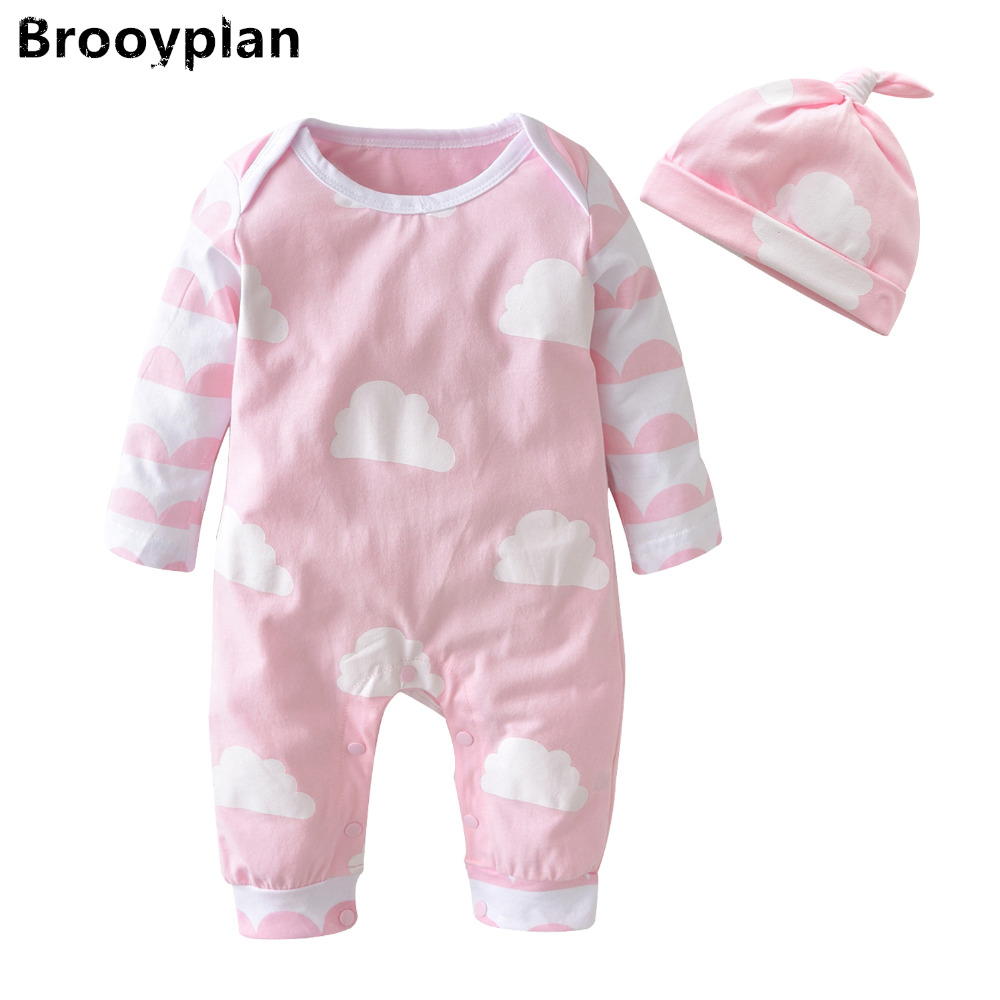 New 2018 Autumn Newborn Baby Girl Clothes Baby Rompers ...
