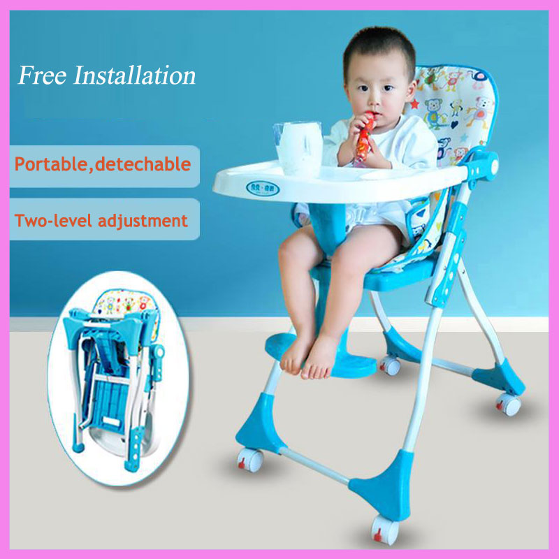 Free Installation Multi-function Baby Portable Folding Dining Table Chair Booster Seat Children Eating Chair Dinner Booster Seat free shipping children eat chair the portable folding multi function plastic baby chairs and tables for dinner