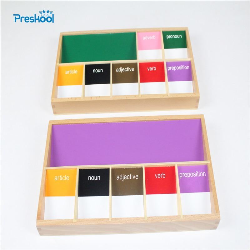 Baby Toy Montessori Basic Language Grammar Sympols 3st Early Childhood Education Preschool Training Kids Brinquedos Juguetes