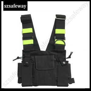 Image 2 - Nylon Harness Two Way Radio Pouch Chest Bag Pack Walkie Talkie Carry Case For kenwood for Baofeng UV 5R UV 82 for Motorola