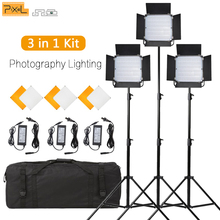 Pixel K80 LED Video Light 3 in1 Kit Photography Lighting Built-in 2.4GHz Wireless Transmission Panel with Light Stand for Studio capsaver 2 in 1 kit led video light studio photo led panel photographic lighting with tripod bag battery 600 led 5500k cri 95