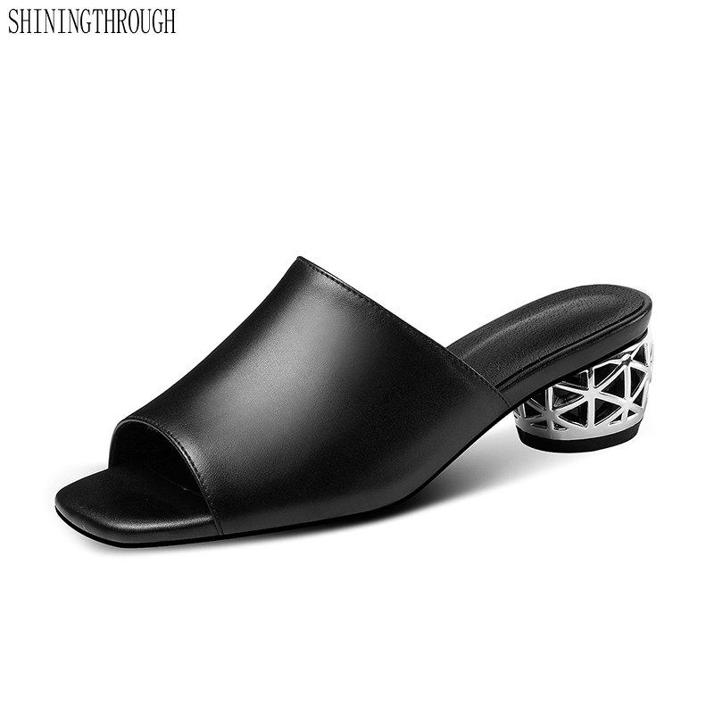 Fashion Women slippers 2019 New Genuine Leather Summer shoes woman sandals Party Casual Mules Shoes WomanFashion Women slippers 2019 New Genuine Leather Summer shoes woman sandals Party Casual Mules Shoes Woman