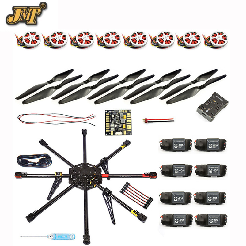 JMT DIY 8-Axle Unassembled RC Drone 1000mm Carbon Octocopter PX4 PIX M8N GPS RC Drone PNF Kit No Remote Battery FPV gzlozone diy kit njw1194 remote volume conrol kit treble