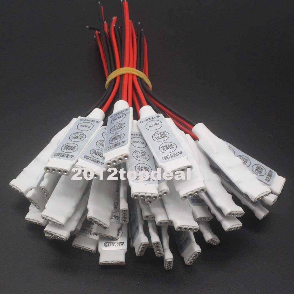 12 V Mini 3 klawiszy pojedyncze RGB kolor LED kontroler jasności ściemniacz dla led 3528 5050 taśmy światła darmowa wysyłka gorąca sprzedaż hurtowa 1 sztuk