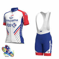 2019 new Pro team groupama FDJ cycling jerseys Bicycle maillot breathable Ropa Ciclismo MTB Short sleeve bike cloth 19D GEL
