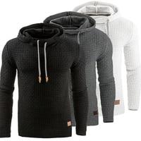 Hoodies Men 2017 Brand Male Long Sleeve Solid Color Hooded Sweatshirt Mens Hoodie Slim Tracksuit Sweat
