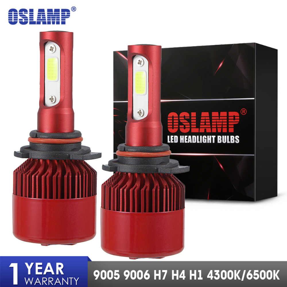 Oslamp H4 LED Headlight Bulbs H7 H11 H1 H3 9012 9005 9006 COB Auto Headlamp 60W 7000lm 6500K/4300K 9007 H13 LED Car Light Bulb