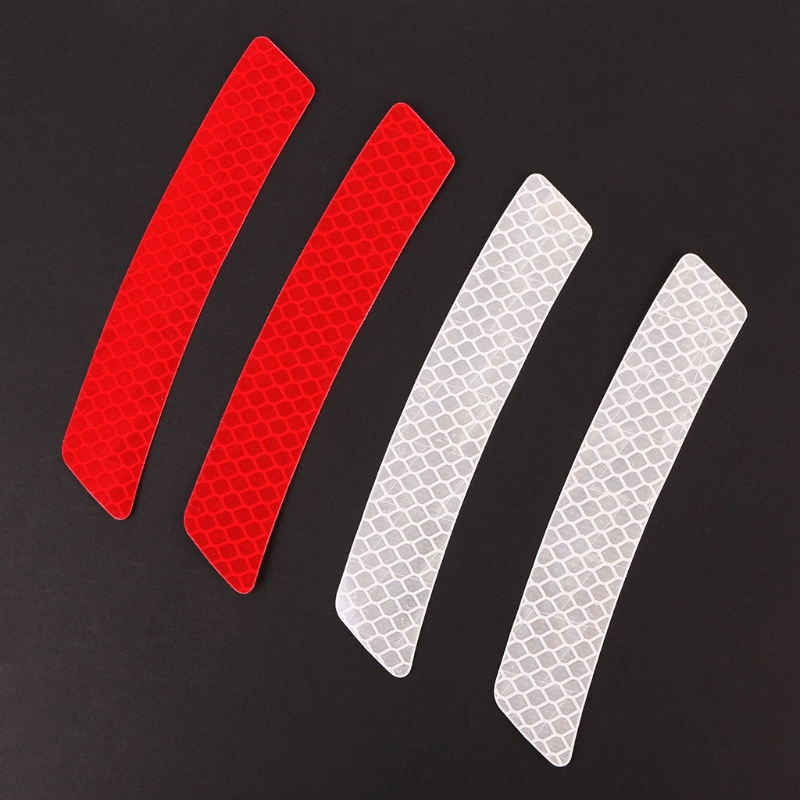 Car Wheel Rim Eyebrow Reflective Warning Strip Stickers Safety Warning Light Reflector Protective Sticker Drop Shipping new 8mx1cm universal motorcycle reflective stickers strips diy bike car safety warning reflective tape wheel rim decal sticker
