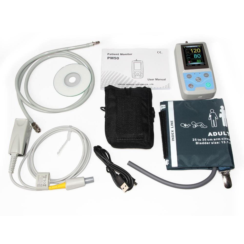 Contec PM50 Patient Monitor,Blood Pressure Monitor,24H Ambulatory NIBP+ SPO2+PRContec PM50 Patient Monitor,Blood Pressure Monitor,24H Ambulatory NIBP+ SPO2+PR
