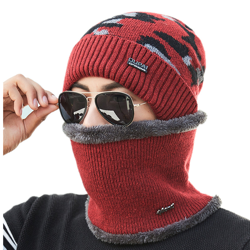 2018 Fashion Warm Balaclava   Skullies     Beanies   Winter Hat Women Hats Caps Men Gorras Ski Mask Camouflage Cap Bone Knitted Scarf