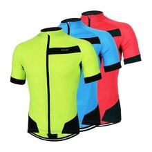 Brand  Short Sleeved Summer Mountain Bike Cycling Suit Men Riding Jersey Green Blue Red Shirt M-XXXL Size цена