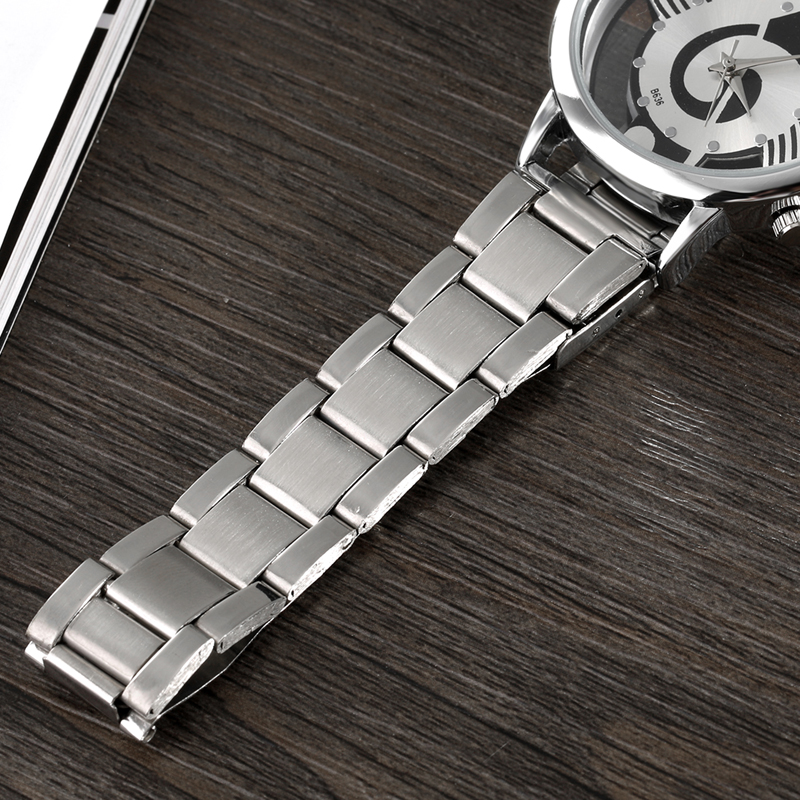 2019 New Luxury Brand Fashion and Casual Music Note Notation Watch Stainless Steel Wristwatch for Men and Women Silver Watches