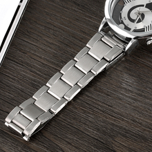 Luxury Brand Fashion and Casual Music Note Notation Watch Stainless Steel Wristwatch for Men and Women