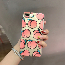 Cyato Fruits Phone Case For iPhone X Transparent Soft TPU Many Juicy Peach Cases for 5 5S SE 6 6S 7 8 Plus capa Back Cover
