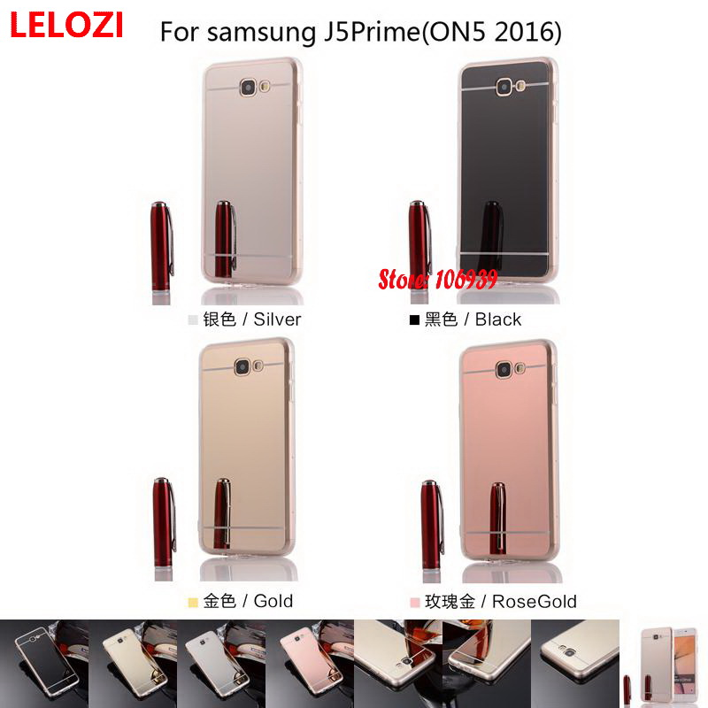 LELOZI Electroplating Soft TPU Mirror Phone Accesories Coque Capinha Case For Samsung Ga ...