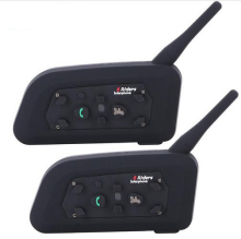 Nuevo 2 x V6 Multi Interphone 1200 M Motocicleta BT Bluetooth Intercomunicador Del Casco entre comunicadores interfones auricular Para 6 Jinete