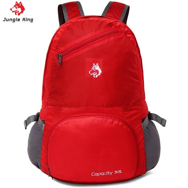 Sac à dos pliant multifonctionnel JUNGLE KING 30L voyage sac de peau d'escalade en plein air sac de voyage étanche pour femmes et enfants