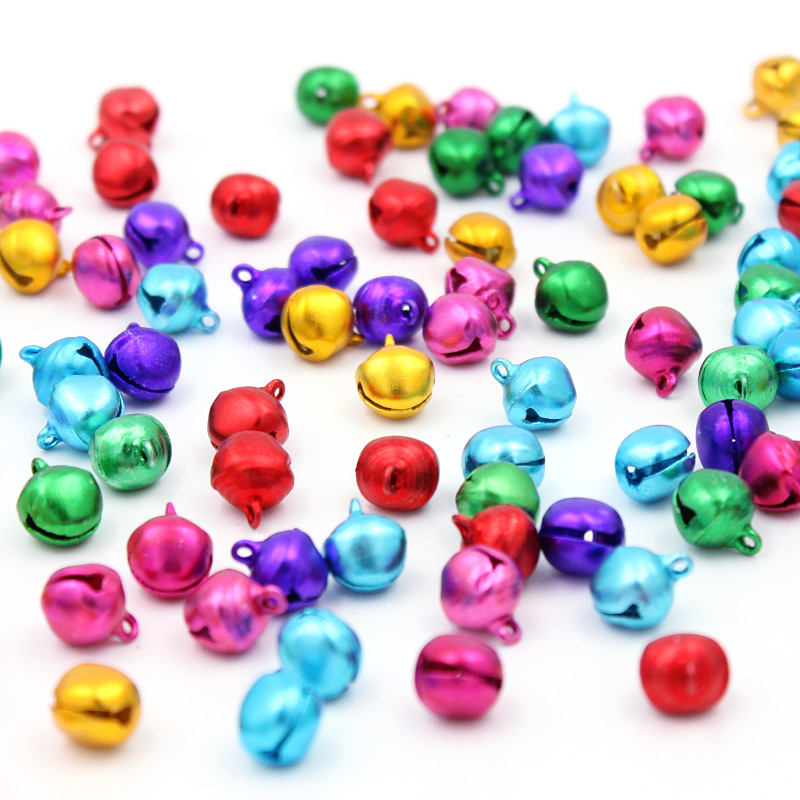 30PCSLOT DIY Handmade Crafts Xmas New Year Ornament Gift 10mm Loose Beads Small Jingle Bells Christmas Decoration