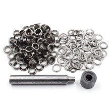 200pcs/lot 12mm Metal hole. Ventilation holes. Eyelets. black metal corns. Canopy cloth rope Clothing & Accessories