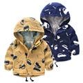 2016 Outono nova primavera crianças Meninos hoodies algodão casaco Corta-vento Casacos roupa dos miúdos do bebê das Crianças zíper roupas 2-7A