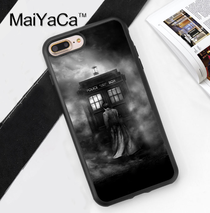 MaiYaCa DOCTOR WHO TARDIS POLICE BOX Phone Case For iPhone 7 Plus 5.5 inch Full Protective For Apple iPhone 7 Plus Soft TPU Case