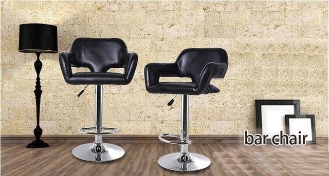 Etonnant Bar Wide Seat Chair Width 50CM Black Color Lift Rotation Coffee Stool  Retail Furniture Market Chair