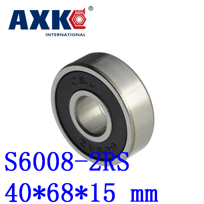 Rodamientos 1pcs Free Shipping Sus440c Environmental Corrosion Resistant Bearings (rubber Seal Cover) S6008-2rs 40*68*15 Mm high quality sus440c environmental corrosion resistant stainless steel deep groove ball bearings s6210zz 50 90 20 mm
