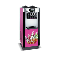 R22 gas ice cream frozen machine soft ice cream machine shipping by sea