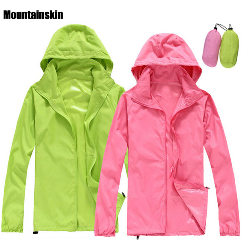 2018 Men Women Quick dry Hiking Jackets Outdoor Sport Skin Dust Coat Thin Waterproof UV Protection Camping Coats Asian 3XL RW011(China)