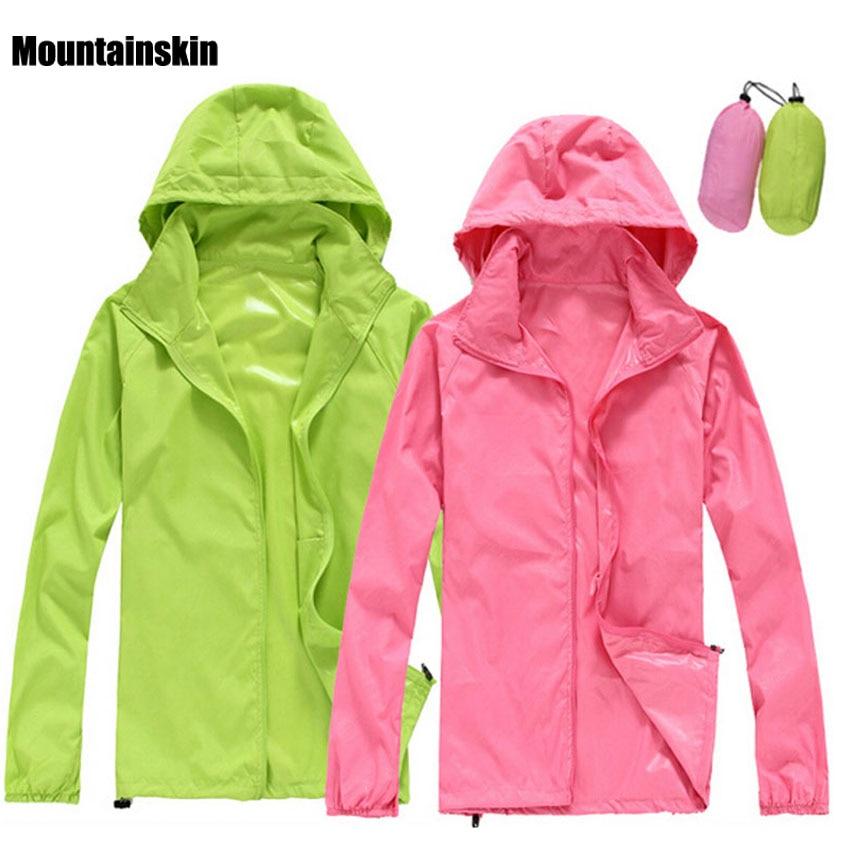 2018 Men Women Quick Dry Hiking Jackets Outdoor Sport Skin Dust Coat Thin Waterproof UV Protection Camping Coats Asian 3XL RW011
