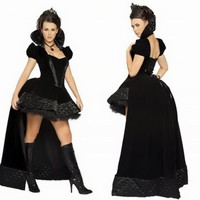 New black women queen costumes Halloween Game uniforms for women witch cosplay Costume