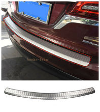 Stainless Steel Outer Rear Bumper Plate Cover Trim FOR 2014 - 2016 Acura MDX