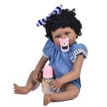 Doll 22inch 55cm Full Silicone Reborn Dolls Lifestyle black