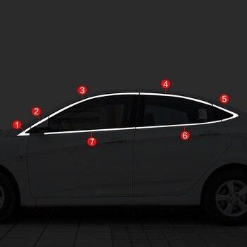 หน้าต่างประตูรถยนต์โครเมี่ยม Auto รถจัดแต่งทรงผมป้องกัน 10 11 12 13 14 15 16 17 18 hyundai Verna