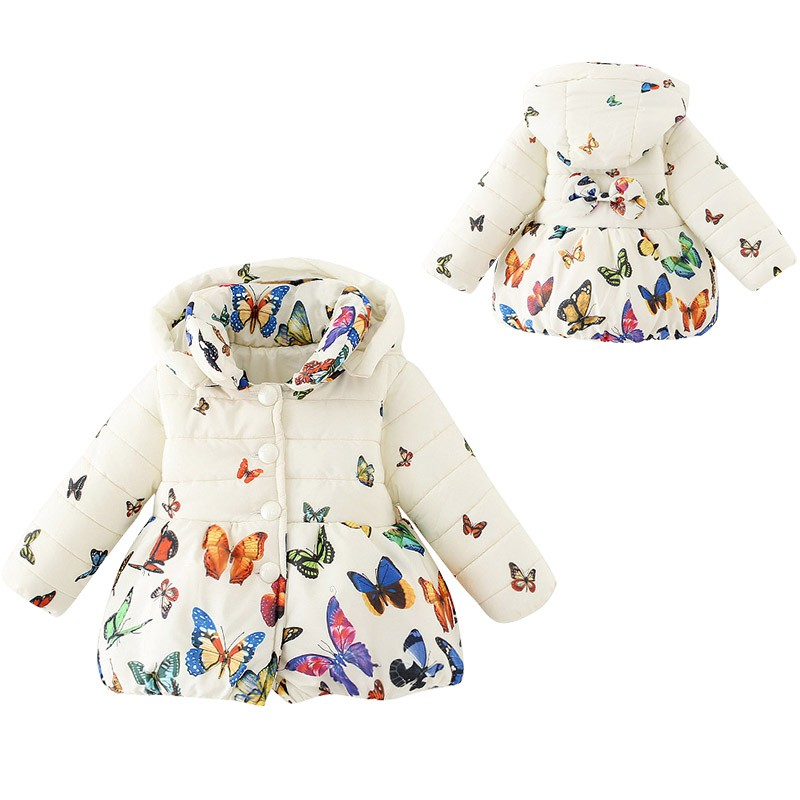 599c28c3d Buy S01 Toddler Baby Girls Winter Coat Infants Kid Cotton Butterfly ...